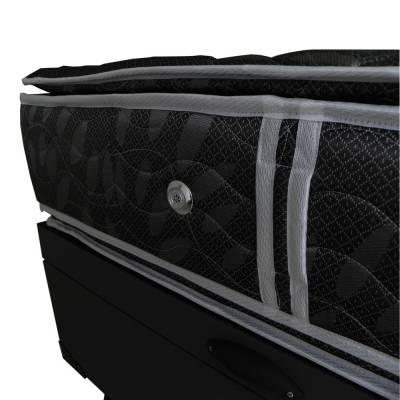 Cama box baú de solteiro com colchão em molas ensacadas 88x1,88x33 com pillow